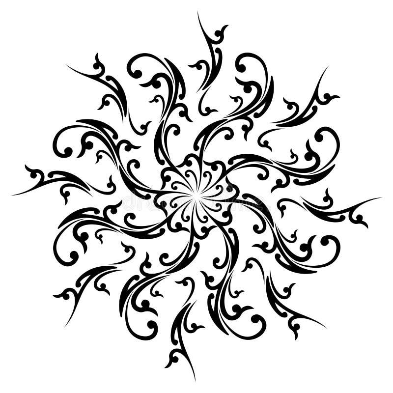 Elemento abstrato creativo da decoração ilustração do vetor