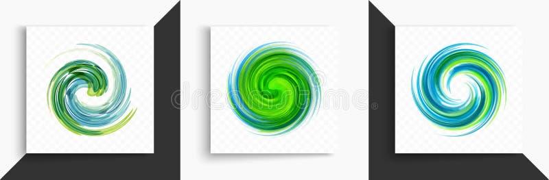 Elemento abstrato do projeto do redemoinho Espiral, rota??o e movimento de roda Ilustra??o do vetor com efeito din?mico ilustração royalty free