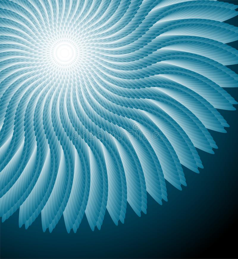 Elemento abstrato do spirograph ilustração do vetor