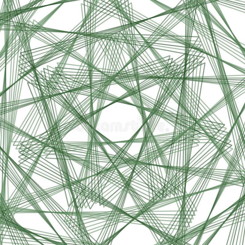 Elemento abstrato do spirograph ilustração stock