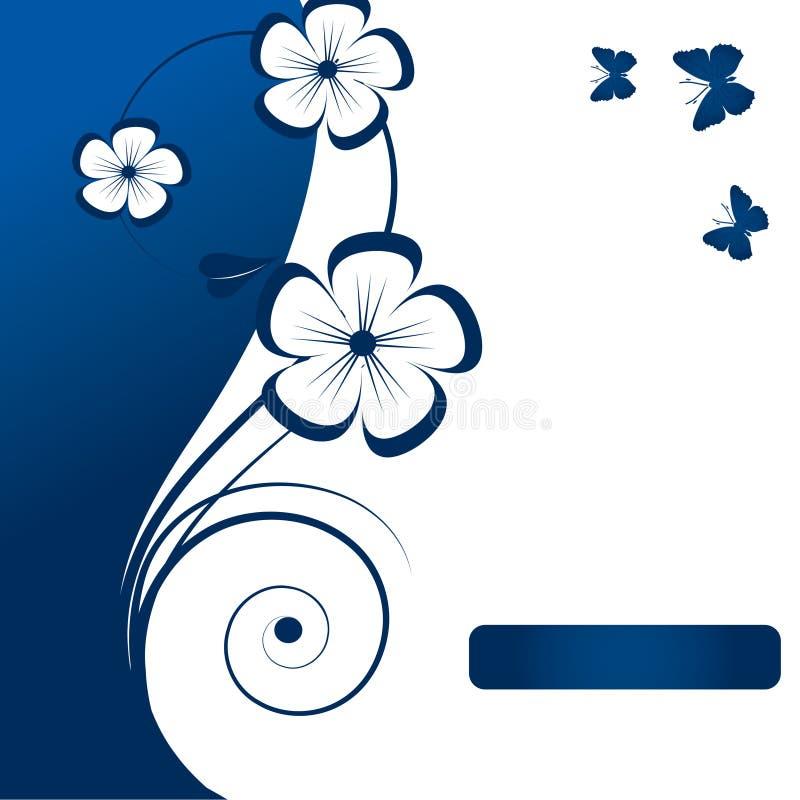 Elemento abstrato floral do projeto ilustração do vetor