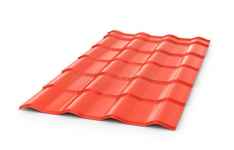 Elemento acanalado rojo de la teja del tejado libre illustration