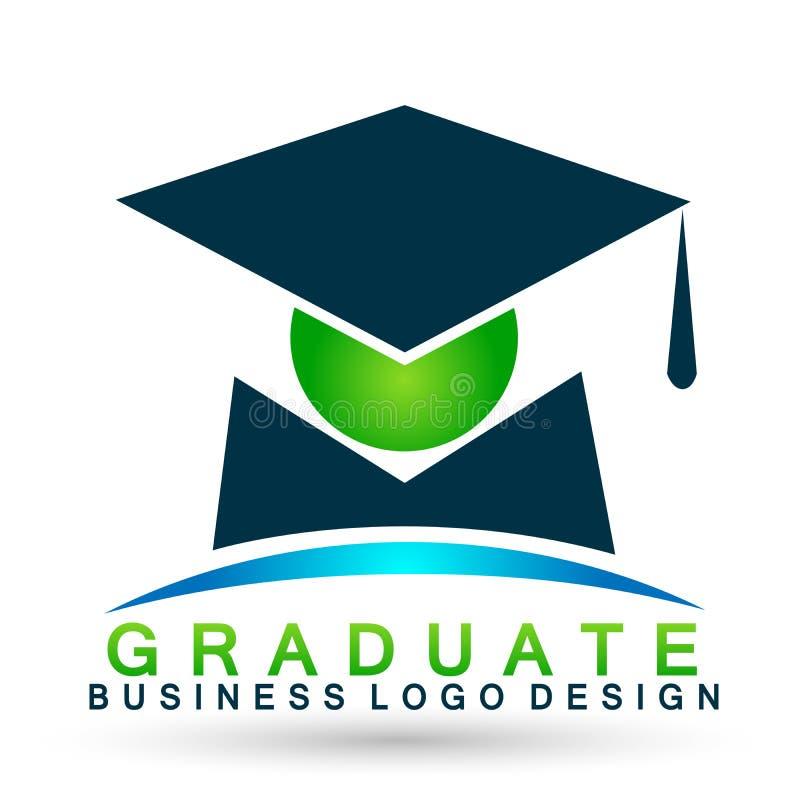 Elemento acertado del icono del soltero de los estudiantes de la graduación de la alta educación de los graduados de los estudian stock de ilustración