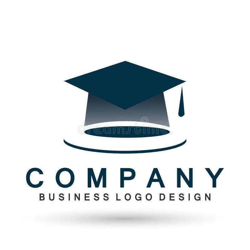 Elemento acertado del icono del soltero del estudiante de la graduación de la alta educación del sombrero de los graduados del in stock de ilustración