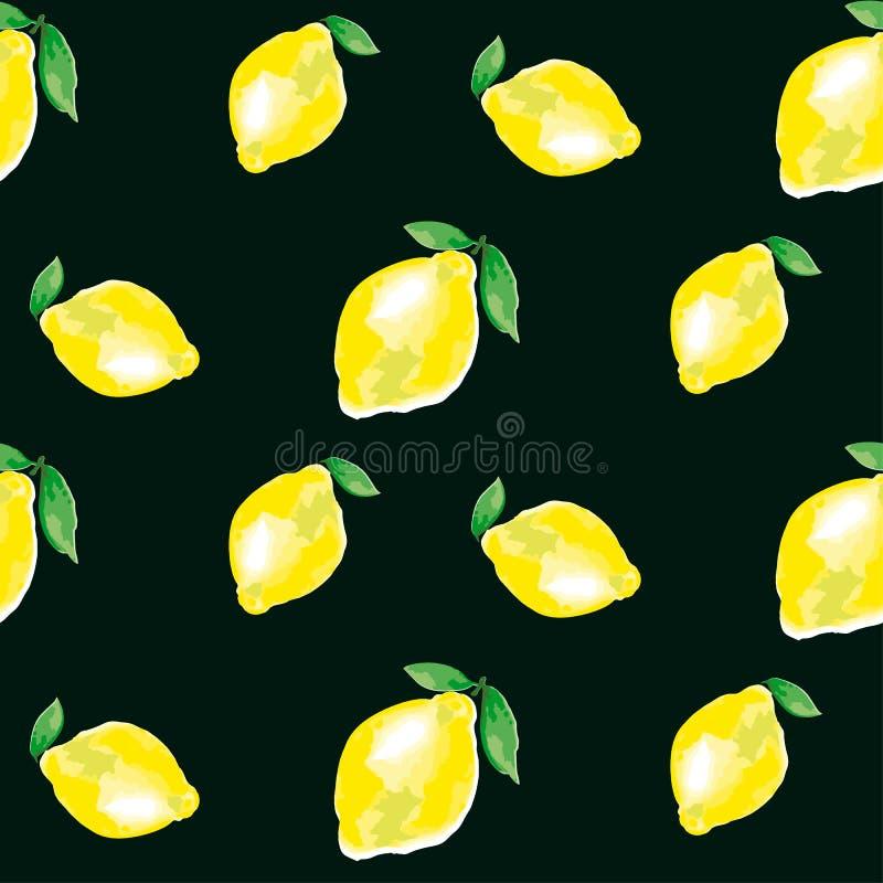 Elemento acquerello del limone contesto vivo di modo di concetto illustrazione di stock