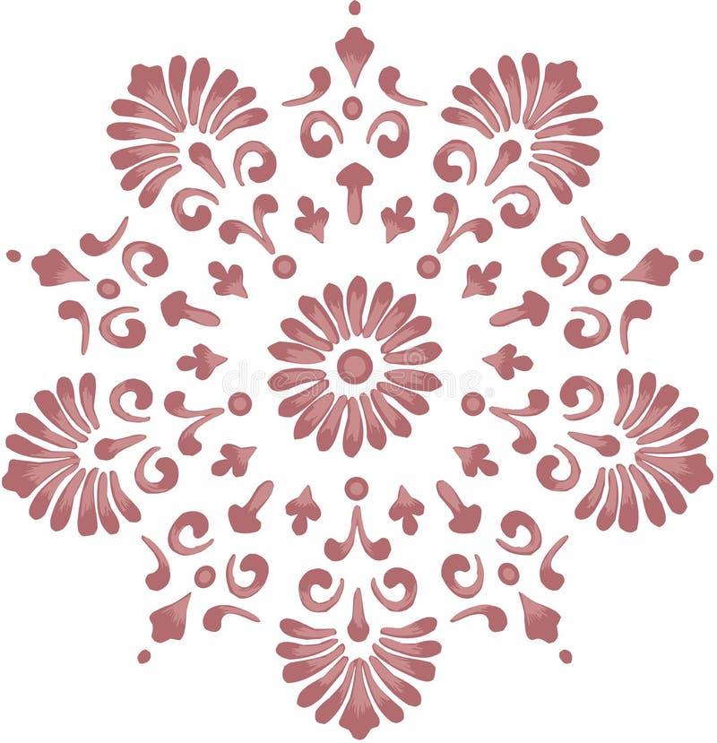 Elemento adornado del diseño floral ilustración del vector