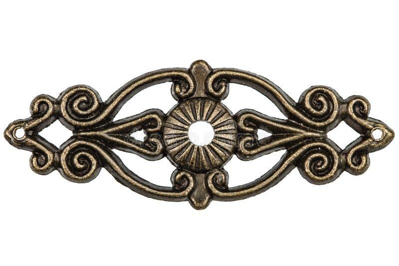 Elemento afiligranado, decorativo para el trabajo manual, aislado en blanco fotografía de archivo libre de regalías