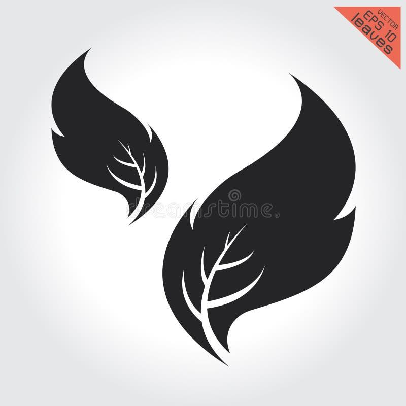 Elemento ajustado da amostra de folha sem emenda preto e branco do teste padrão das folhas incluído ilustração royalty free