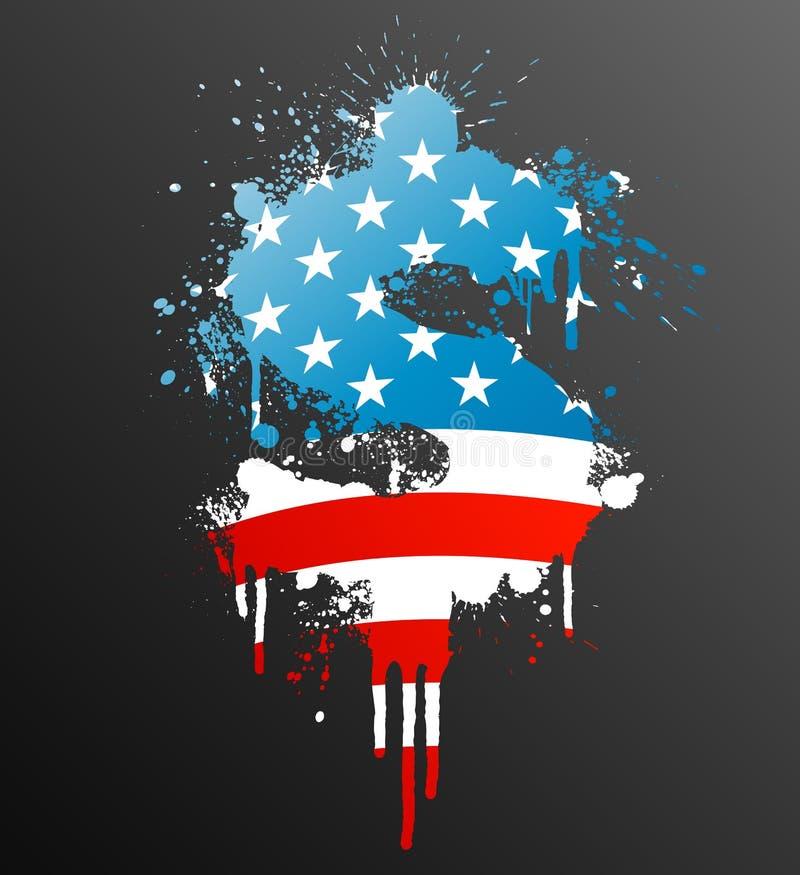 Elemento americano dello splatter del dollaro