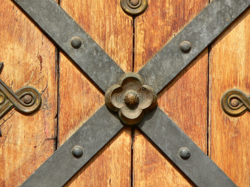 Elemento antigo da porta fotografia de stock