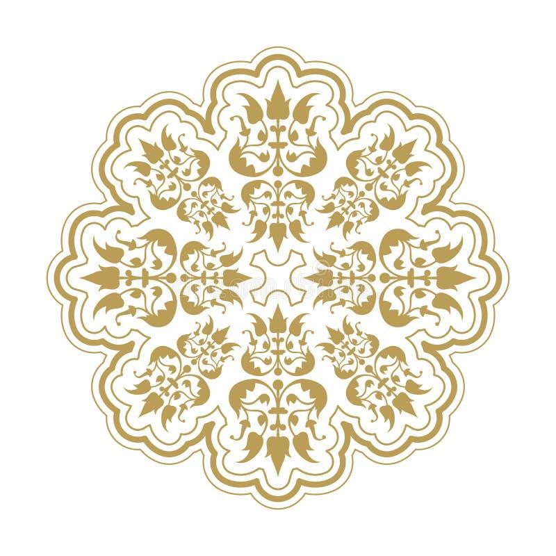 Elemento antiquato di progettazione floreale per le strutture e gli ambiti di provenienza illustrazione di stock