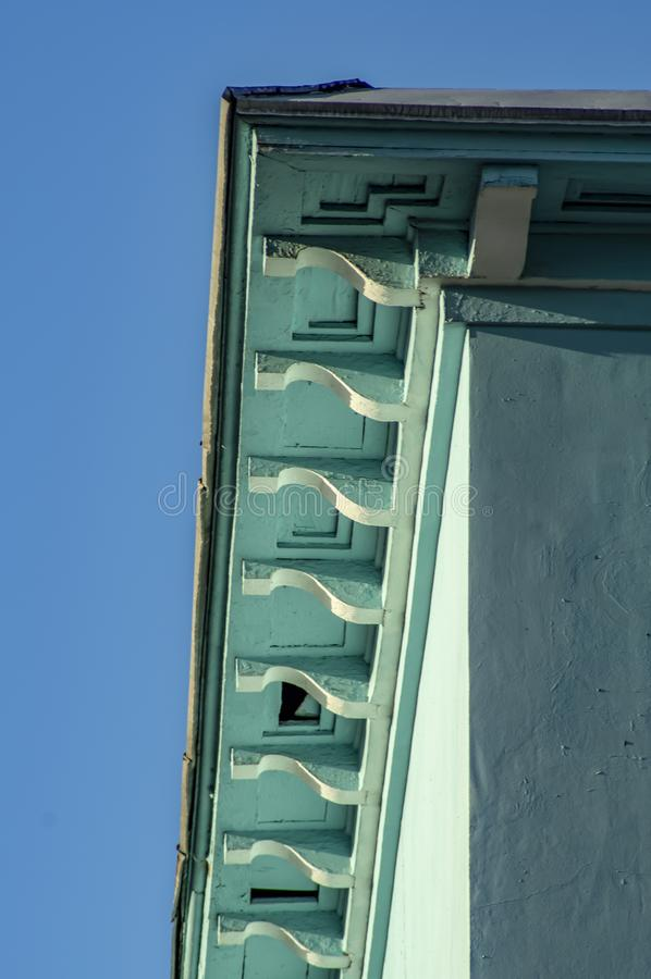 Elemento architettonico sotto forma di voluta Elementi architettonici decorativi del dettaglio Elementi architettonici del dettag immagini stock