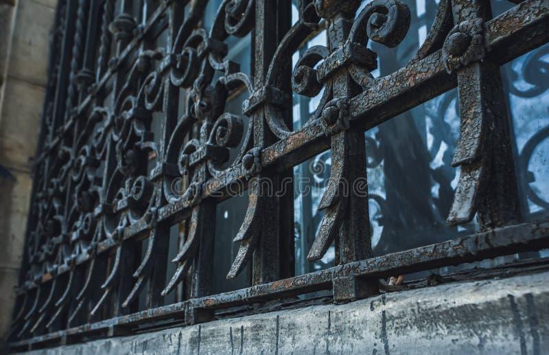 Elemento architettonico sotto forma di voluta Elementi architettonici decorativi del dettaglio fotografie stock