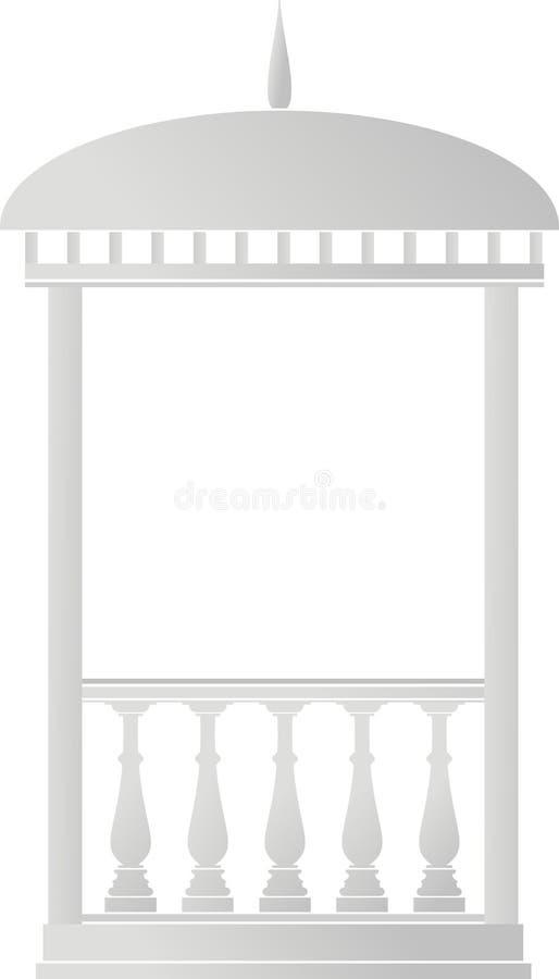 Elemento arquitectónico - mandril (rotunda) ilustração stock