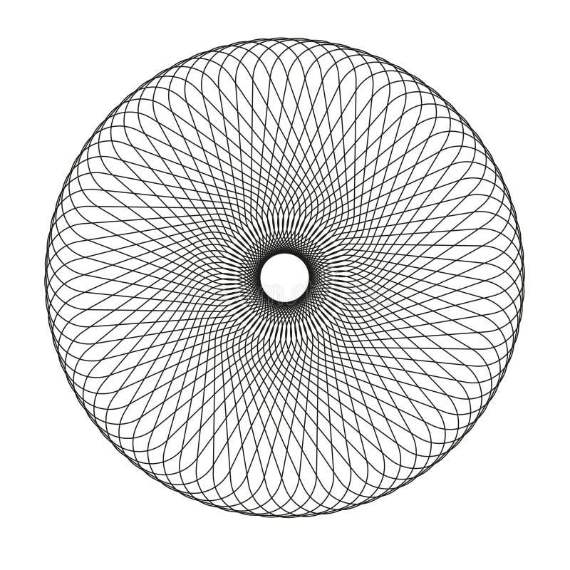 Elemento astratto dello spirograph royalty illustrazione gratis