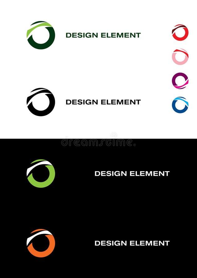 Elemento astratto di disegno. Anelli illustrazione vettoriale