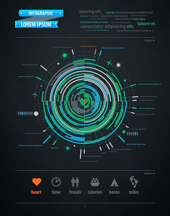 Elemento astratto di infographics su trasporto illustrazione di stock