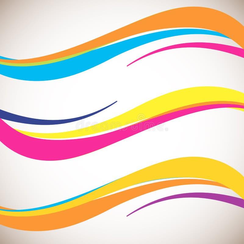 Elemento astratto di progettazione dell'onda di colore Stile morbido dinamico regolare su fondo leggero royalty illustrazione gratis