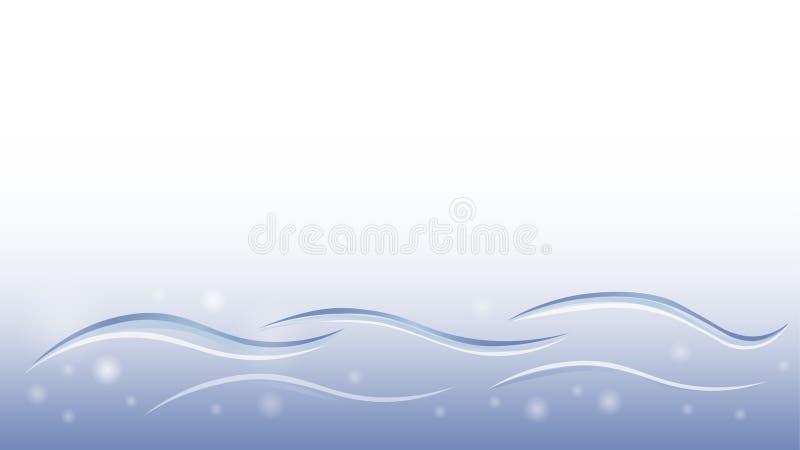 Elemento astratto di vettore di moto dell'acqua di progettazione morbida liquida blu della carta da parati illustrazione di stock