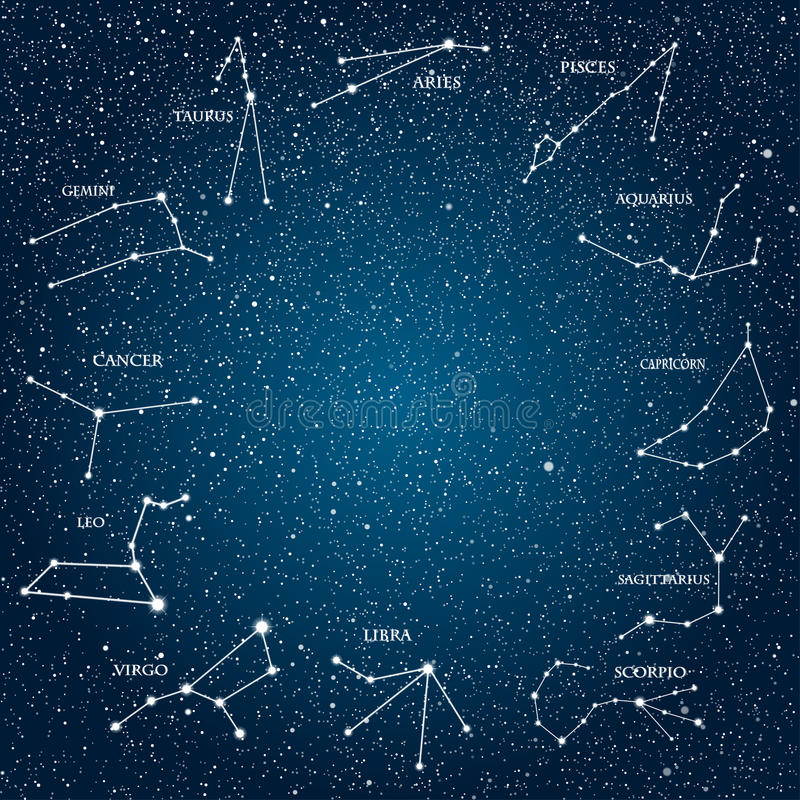 Elemento astrológico del vector Muestras del zodiaco horoscope EPS 10 ilustración del vector