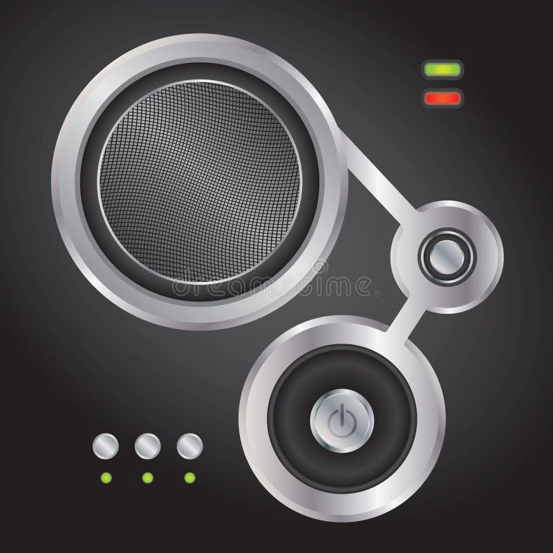 Elemento audio para los Web site stock de ilustración
