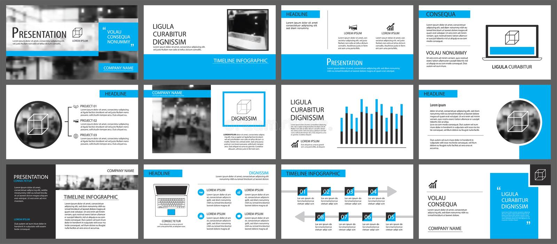 Elemento azul e branco para a corrediça infographic no fundo pres ilustração royalty free