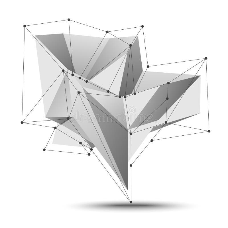 Elemento basso di vettore della geometria del poligono royalty illustrazione gratis
