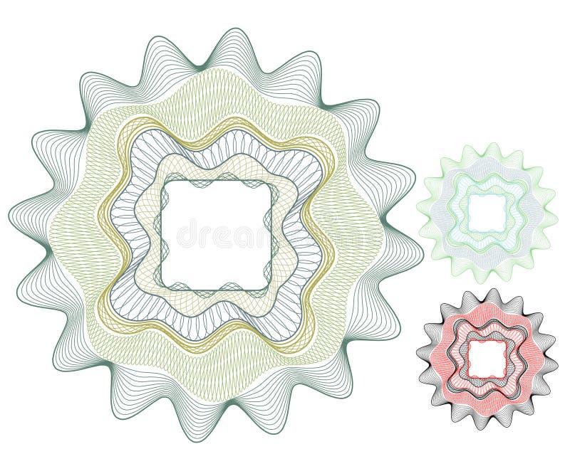 Elemento in bianco del certificato/elemento/vettore dei soldi royalty illustrazione gratis
