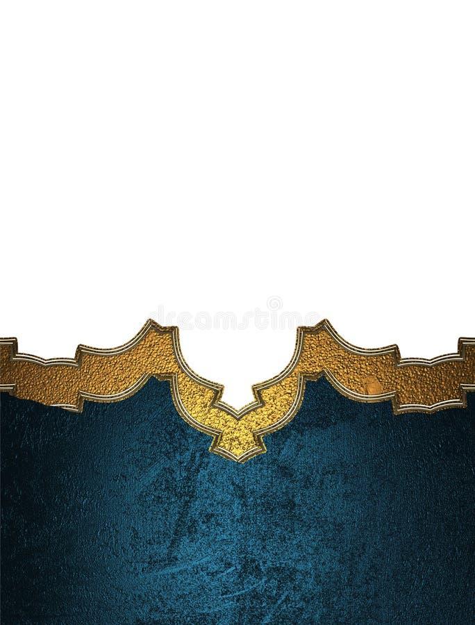 Elemento blu per progettazione Mascherina per il disegno copi lo spazio per l'opuscolo dell'annuncio o l'invito di annuncio, fond illustrazione vettoriale