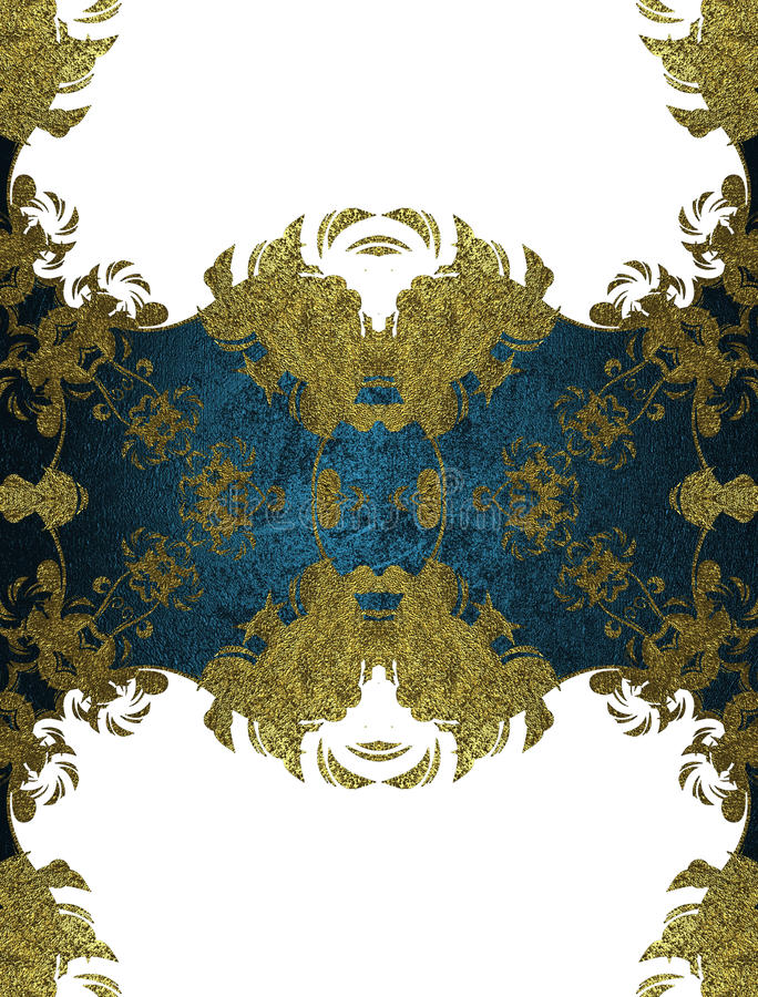 Elemento blu per progettazione Mascherina per il disegno copi lo spazio per l'opuscolo dell'annuncio o l'invito di annuncio, fond royalty illustrazione gratis