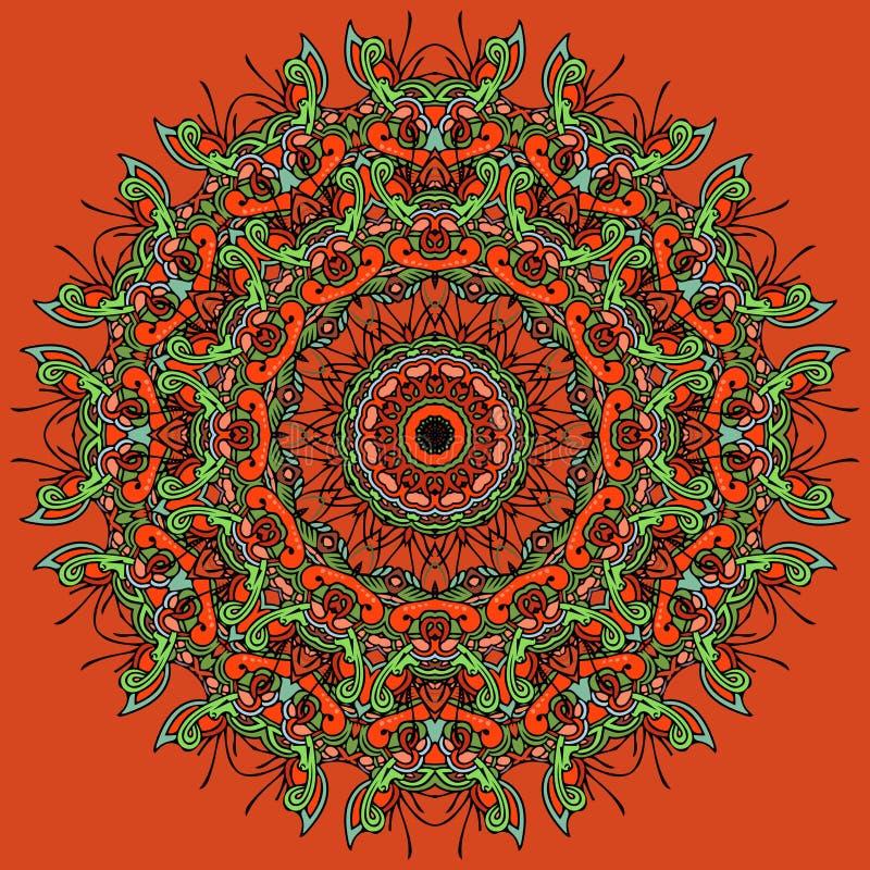 Elemento brilhante da mandala para seu próprio projeto ilustração do vetor
