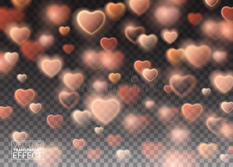 Elemento brilhante do projeto para o dia do ` s do Valentim dos feriados da decoração ilustração royalty free