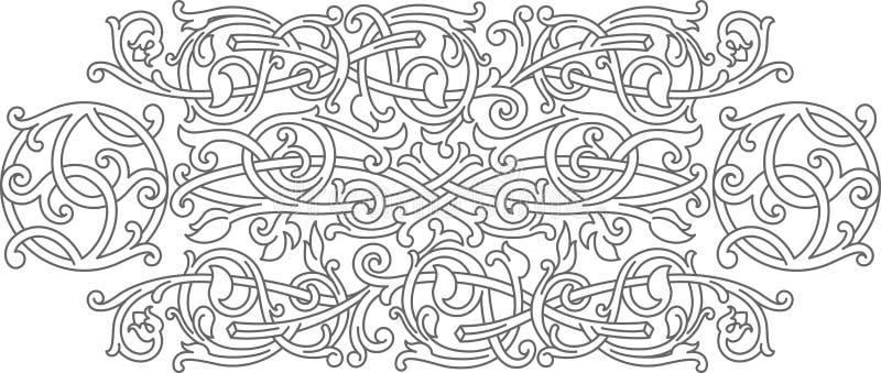 Elemento celta do projeto da decoração do ornamento do teste padrão ilustração stock