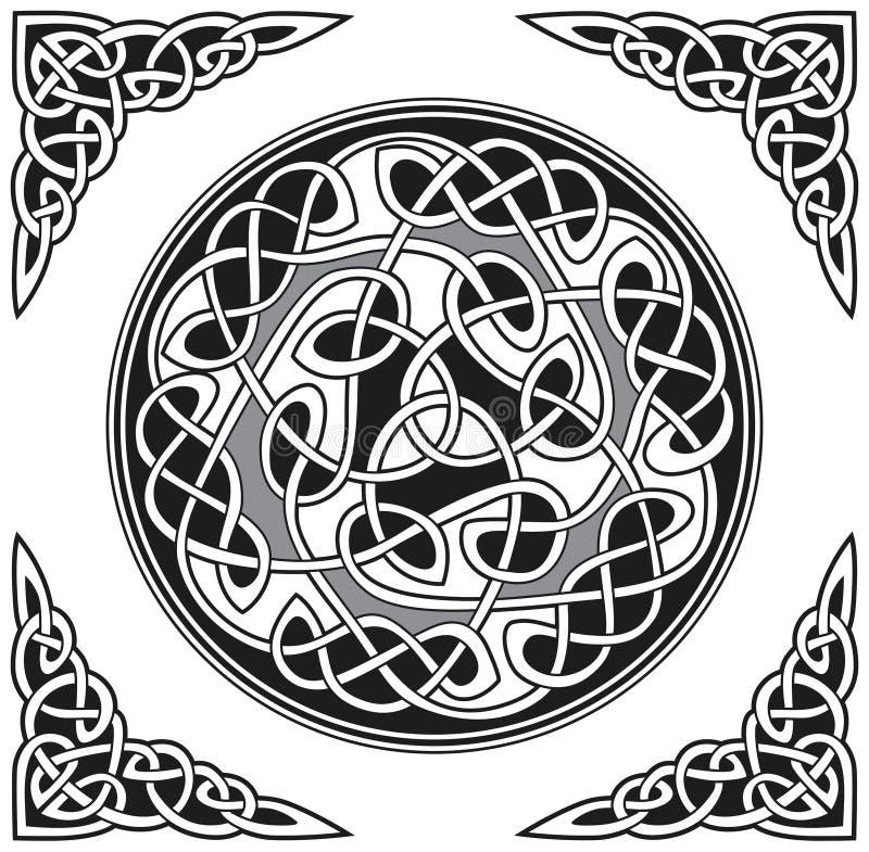 Elemento celtico di disegno di vettore illustrazione di stock