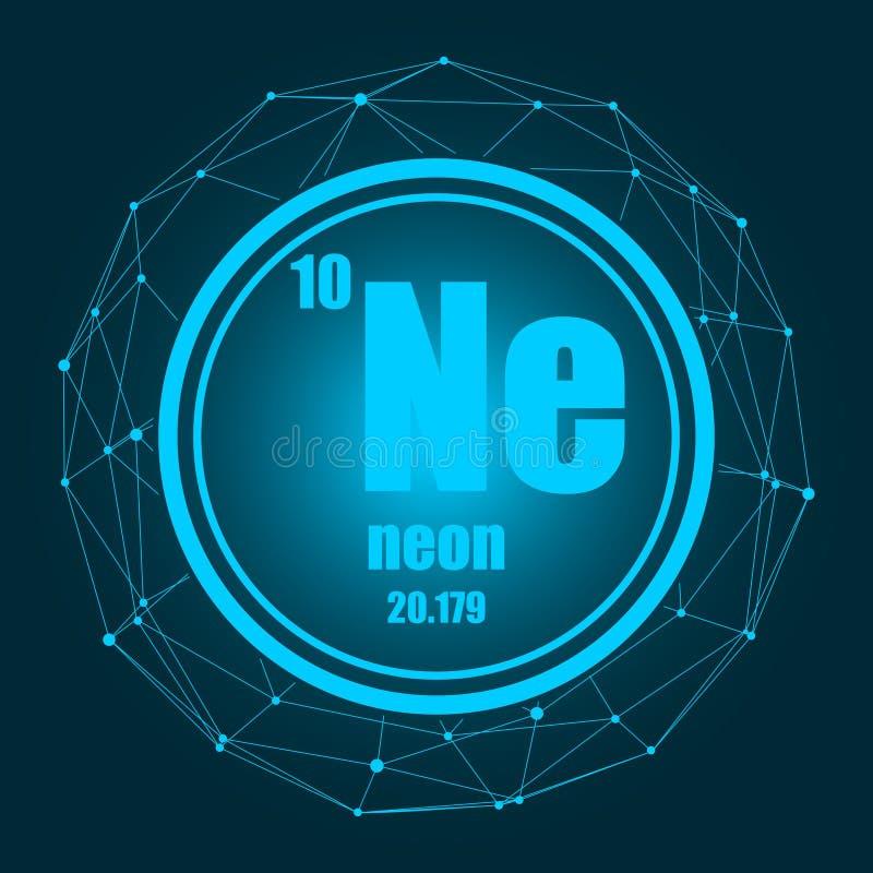 Elemento chimico al neon illustrazione di stock
