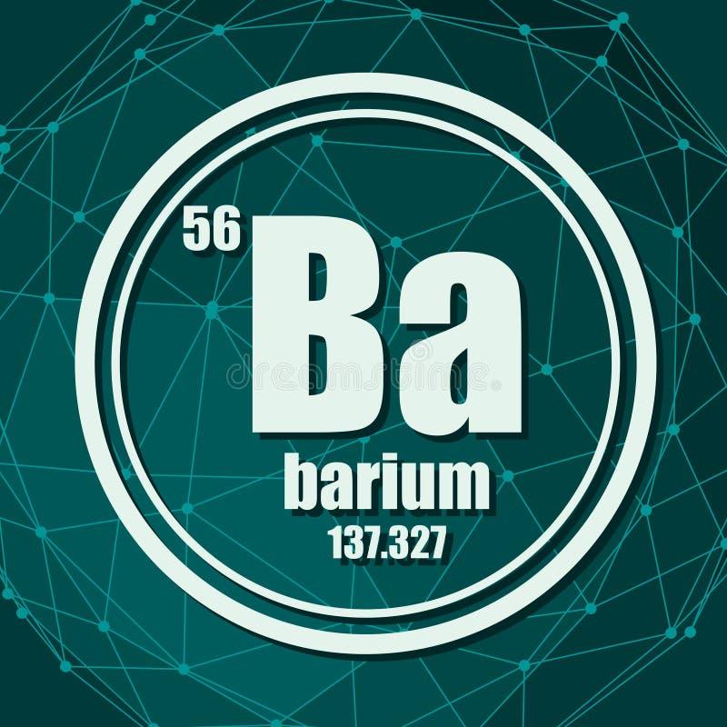Elemento chimico del bario illustrazione vettoriale