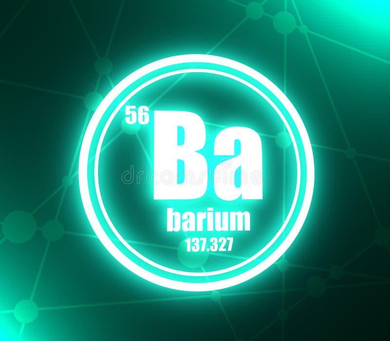 Elemento chimico del bario illustrazione di stock