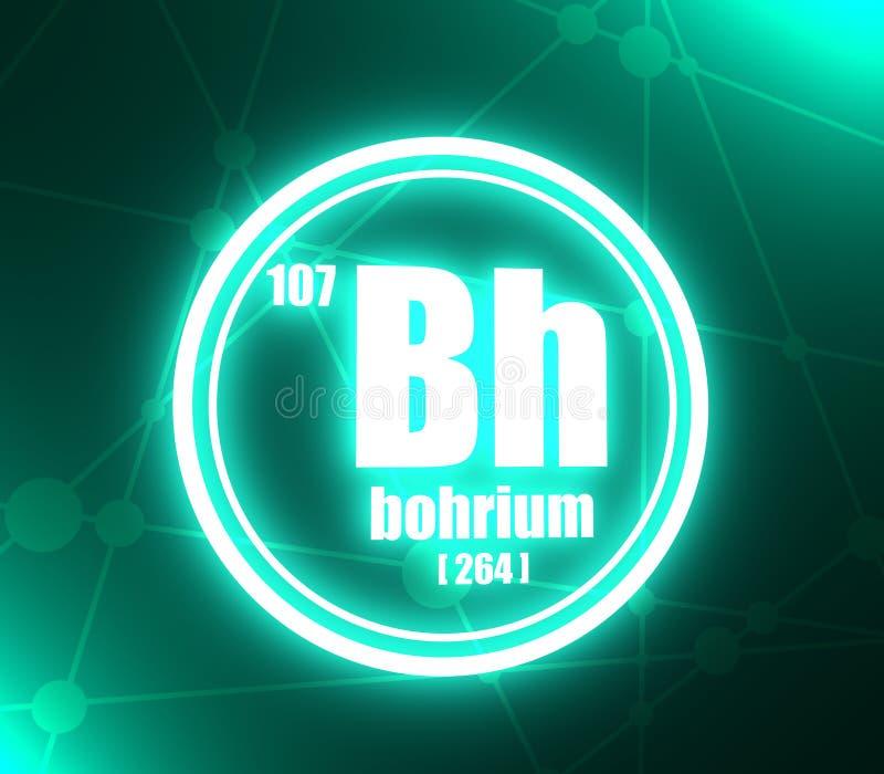 Elemento chimico del bohrio illustrazione vettoriale