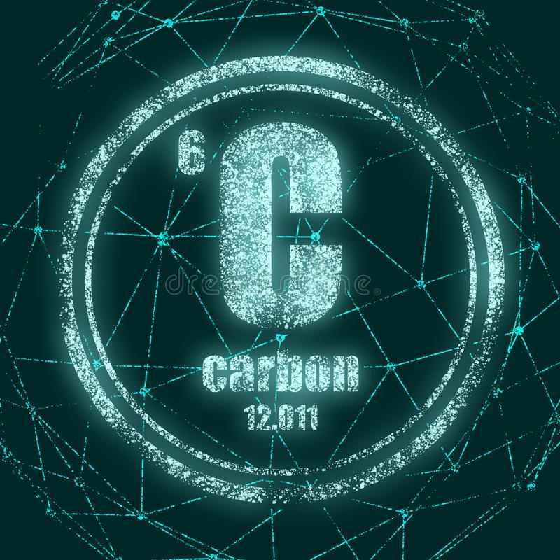 Elemento chimico del carbonio royalty illustrazione gratis