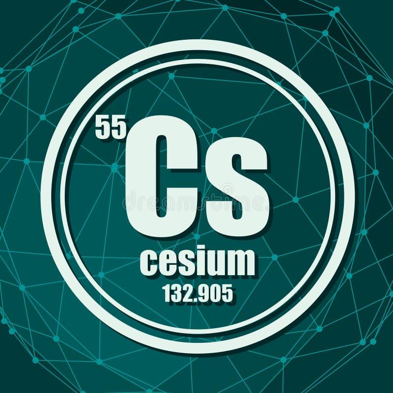 Elemento chimico del cesio royalty illustrazione gratis