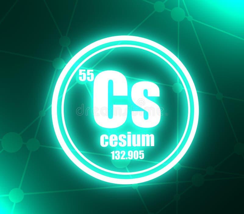 Elemento chimico del cesio illustrazione vettoriale