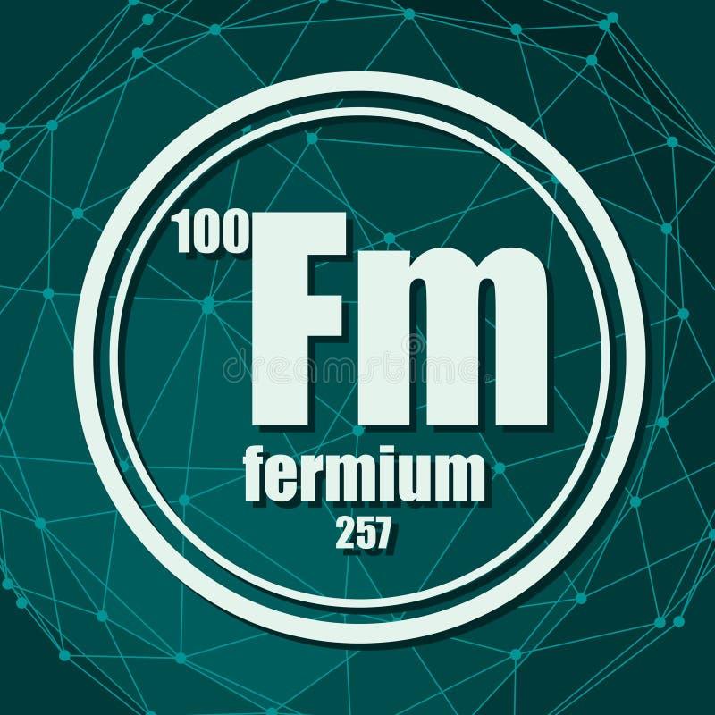 Elemento chimico del fermio illustrazione vettoriale