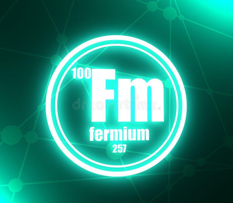 Elemento chimico del fermio illustrazione di stock