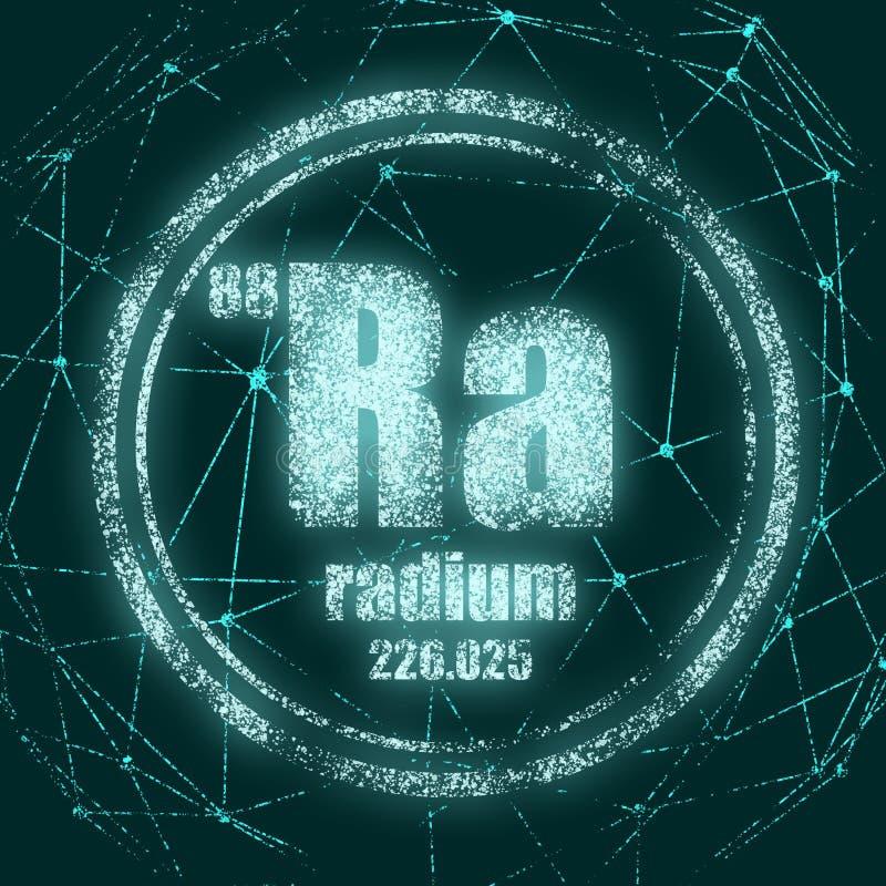 Elemento chimico del radio royalty illustrazione gratis