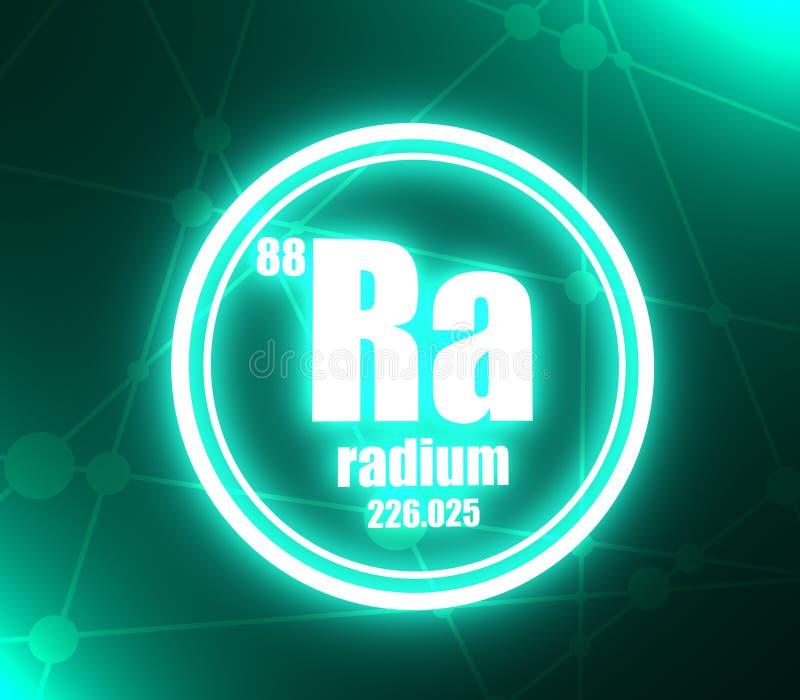 Elemento chimico del radio illustrazione vettoriale