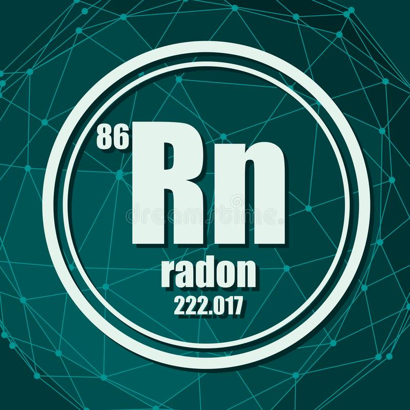 Elemento chimico del radon royalty illustrazione gratis