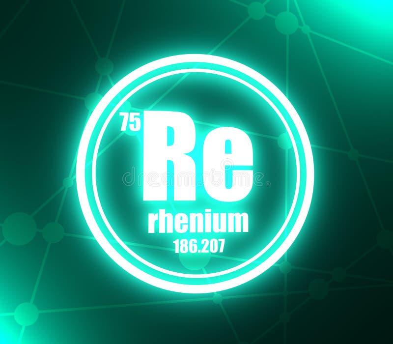 Elemento chimico del renio illustrazione vettoriale