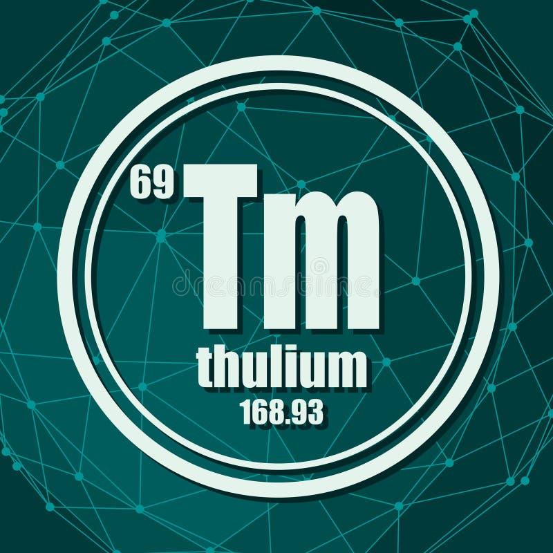 Elemento chimico del tulio illustrazione di stock
