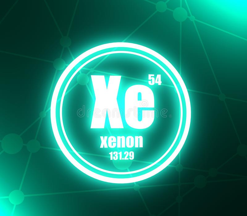 Elemento chimico del xeno royalty illustrazione gratis