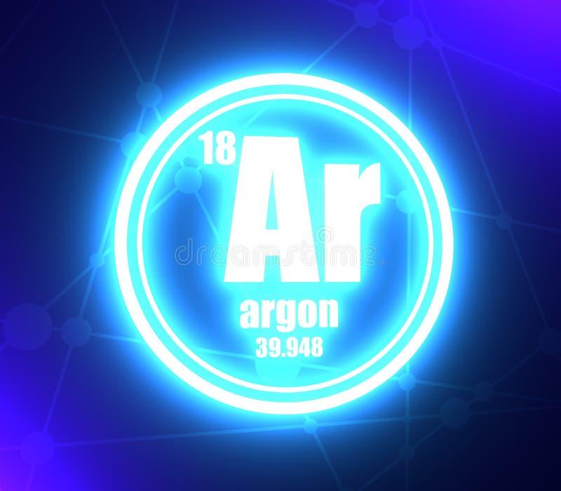 Elemento chimico dell'argon illustrazione vettoriale